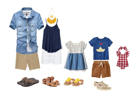wardrobe ideas for a summer family photography session