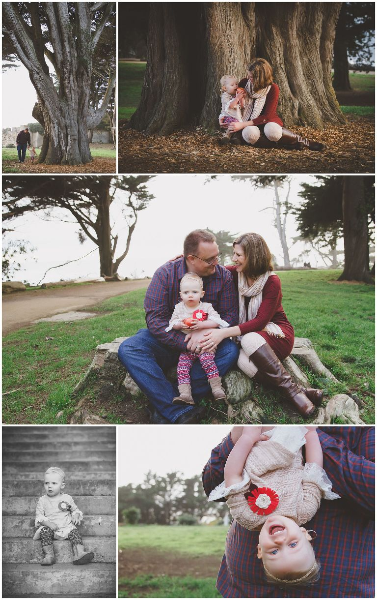 Family Photography Session at Sutro Heights Park in San Francisco