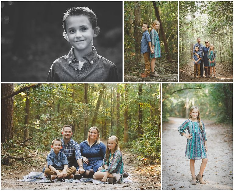 Family photography at Abbey Nature Preserve in Wilmington NC