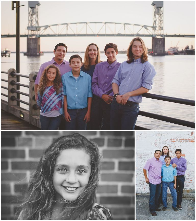 Cape Fear River in Historic Wilmington NC Family Photographer