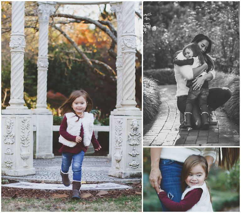 Mommy & Me Portrait Session at New Hanover Arboretum Gardens and Temple