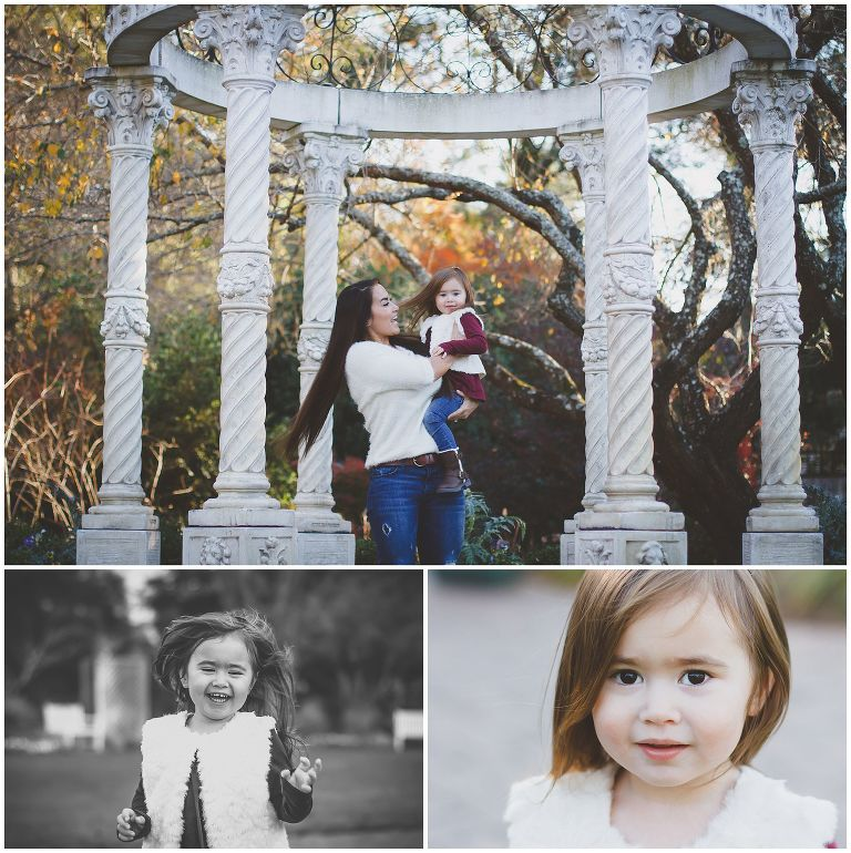 Mommy & Me Portrait Session at New Hanover Arboretum in the white temple