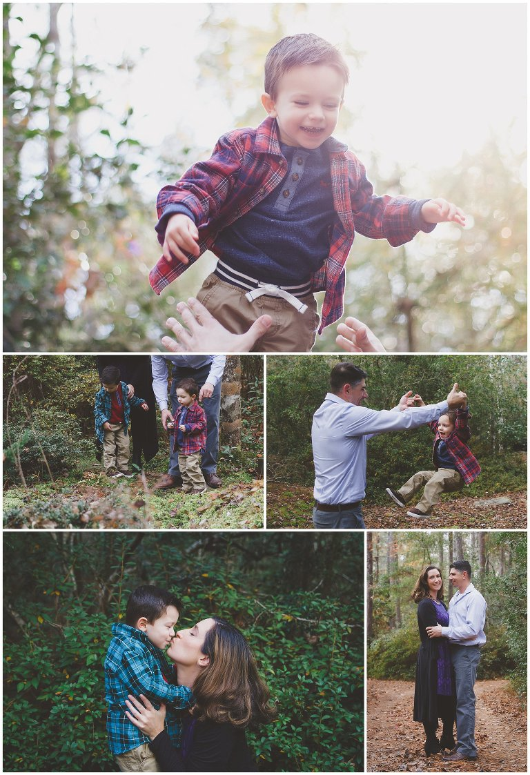 family photos in wooded area in hampstead nc