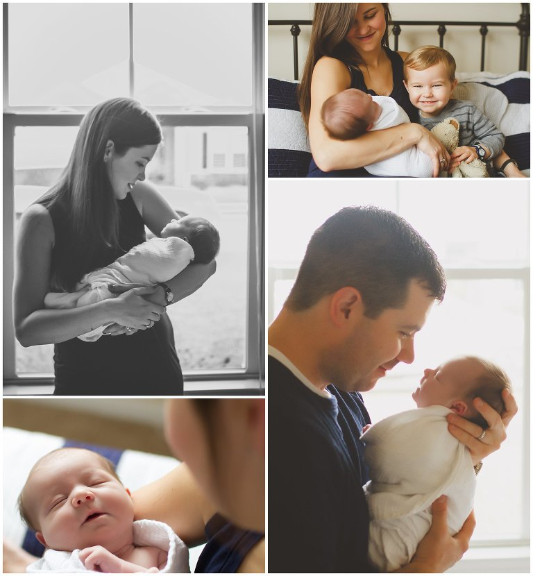 Wilmington NC In-home newborn photography session