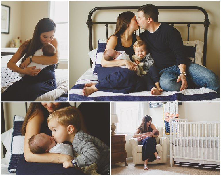 Wilmington NC In-home newborn photography session with big brother