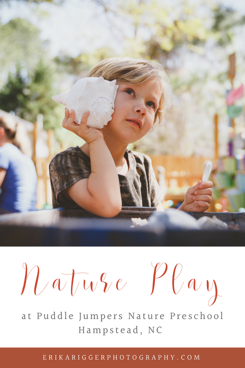 Nature Play at Puddle Jumpers Nature Preschool in Hampstead, NC