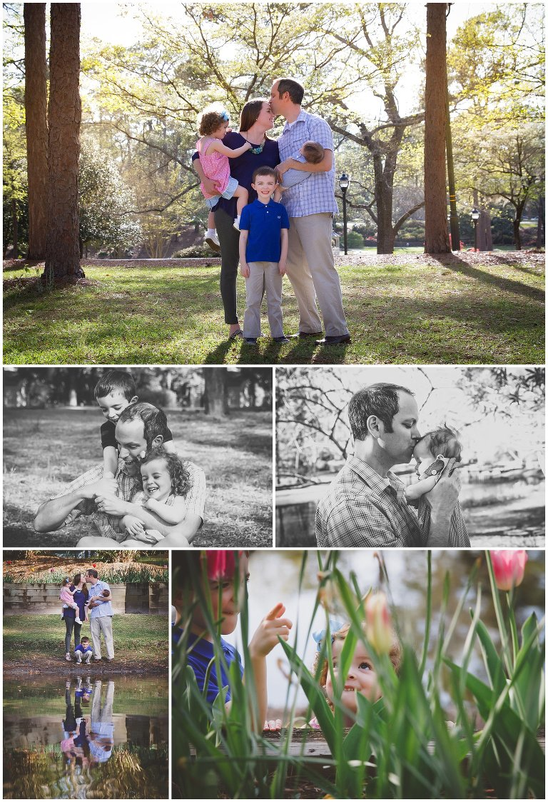 Family photo session at Hugh MacRae Park