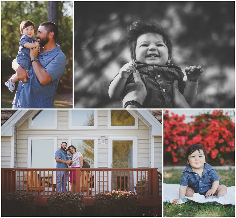 A sweet North Carolina backyard family photo session