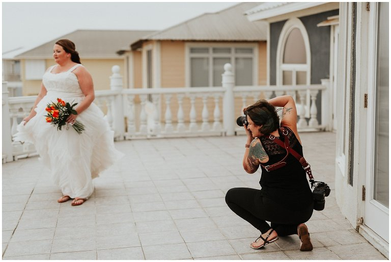 professional wedding photographer at work