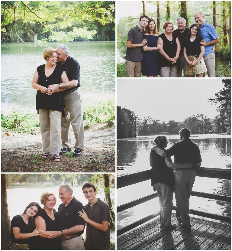 Greenfield Lake Family Portraits to celebrate an anniversary