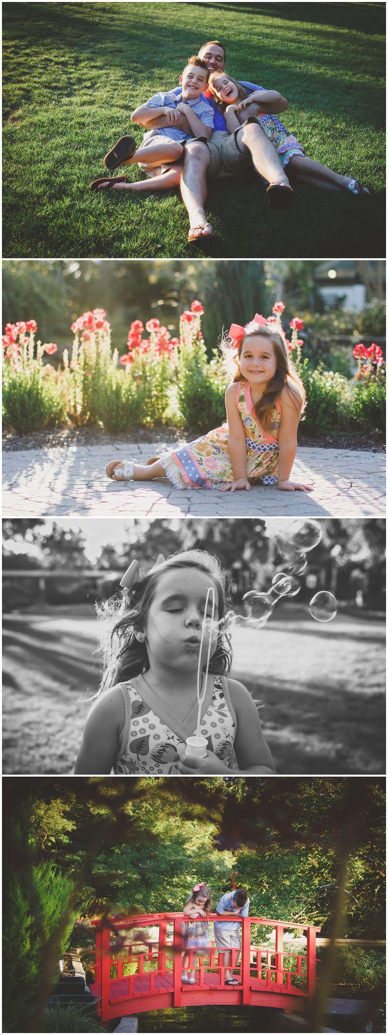 little girl in garden at the new hanover arboretum in wilmington nc