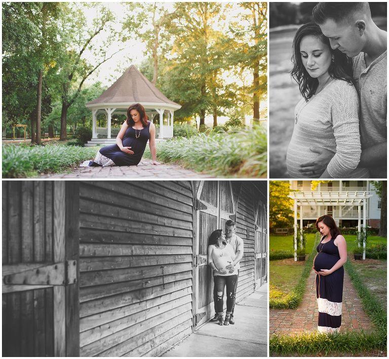 husband and wife maternity photos in north carolina