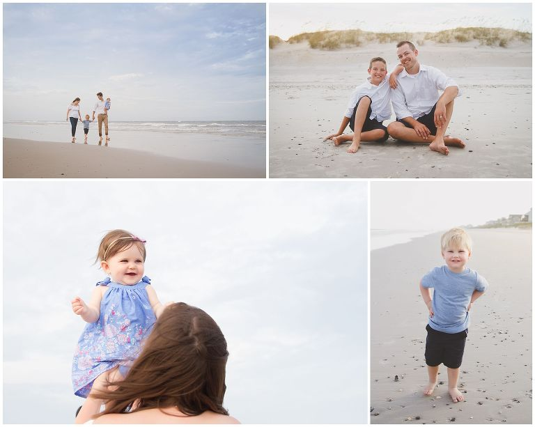 family at topsail island