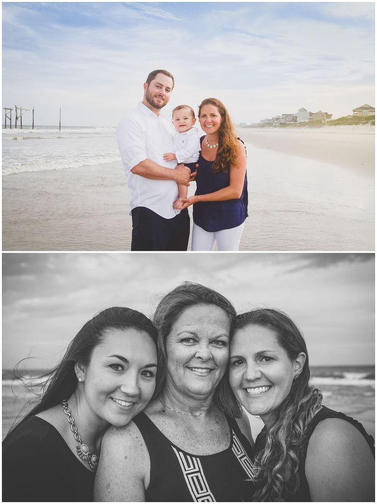 family summer portraits at topsail island
