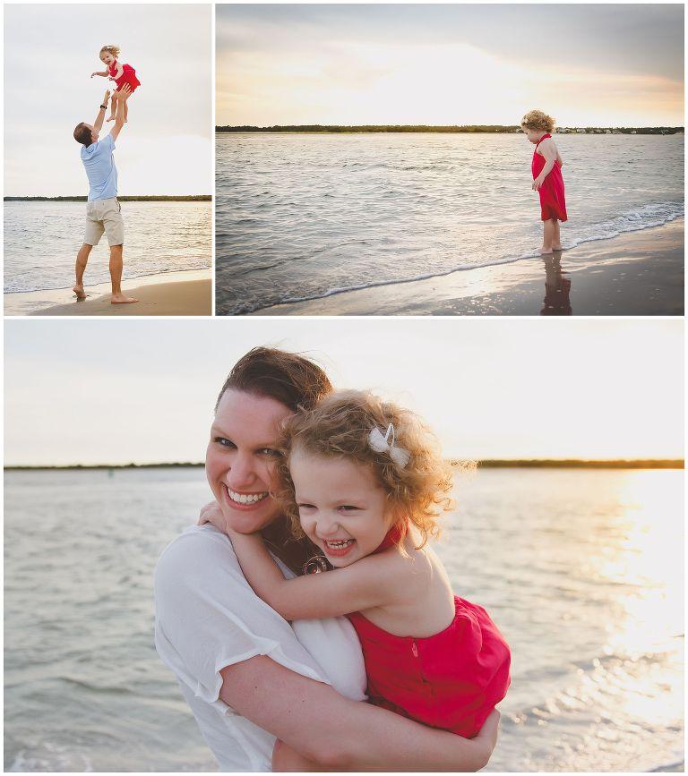 family photos at wrightsville beach in north carolina