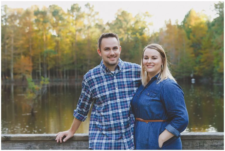 Fall family photos at Abbey Nature Trails in Wilmington NC