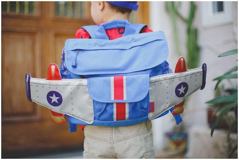 Bixbee backpack in back-to-school photo