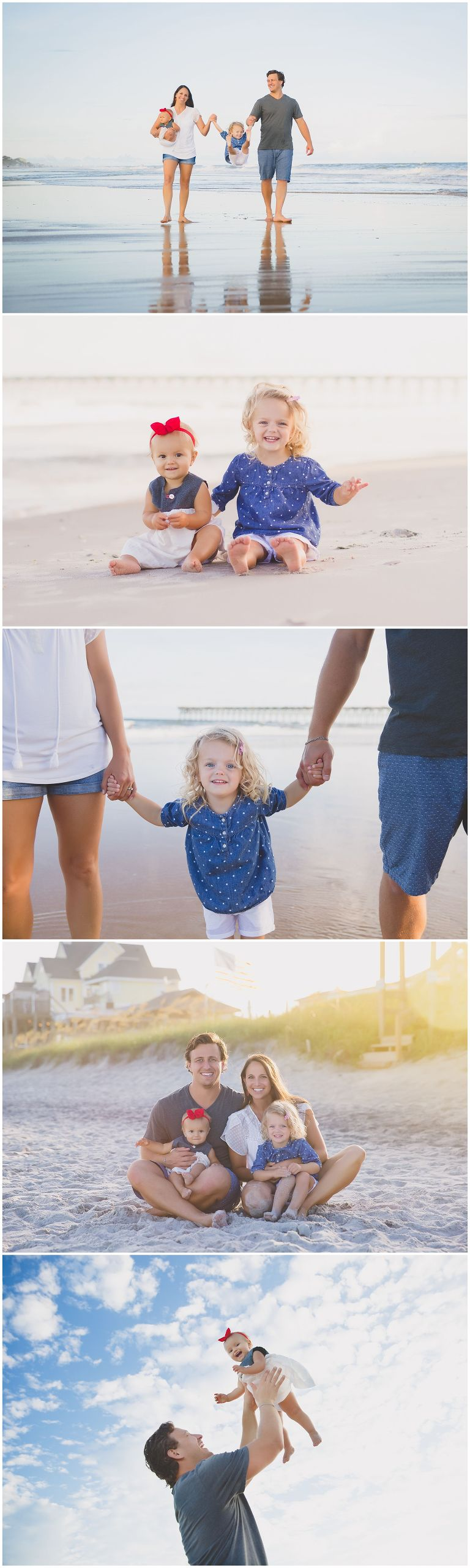 family photo session in surf city nc