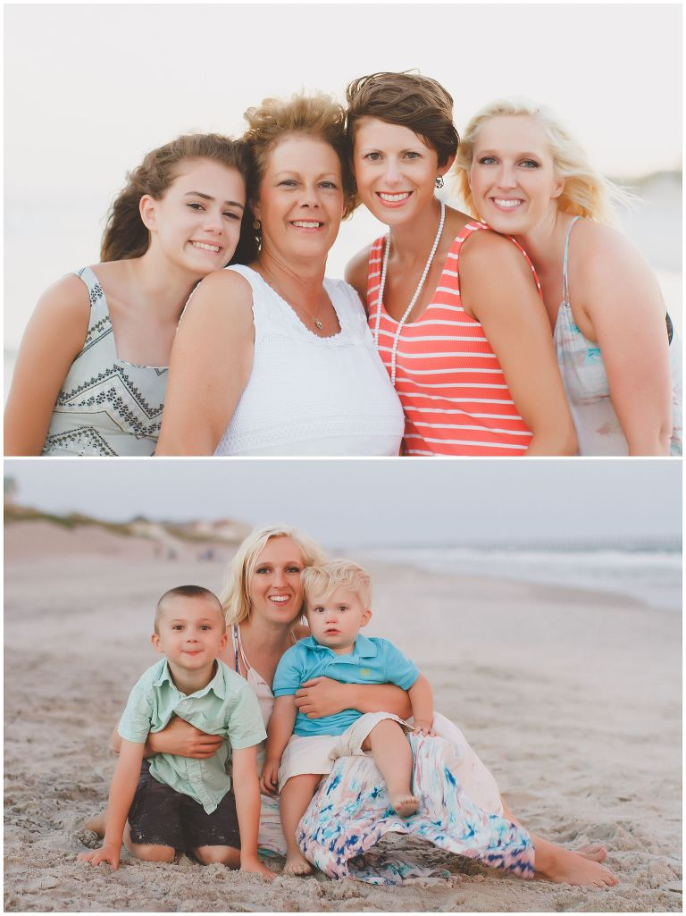 north topsail island family reunion portraits