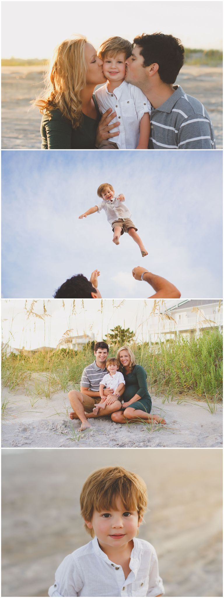 family maternity photography at Wrightsville beach