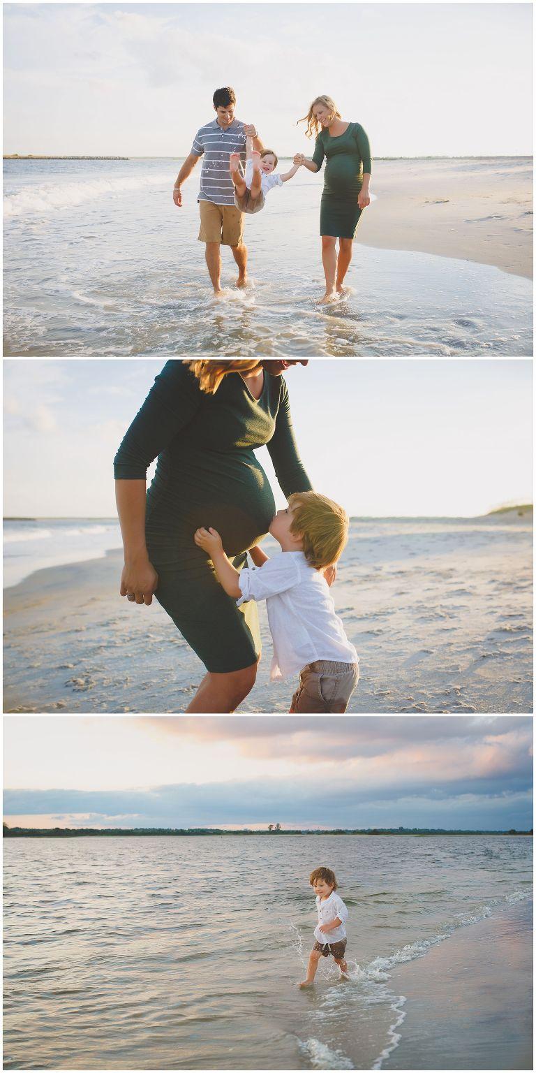 Wrightsville Beach NC Maternity Family Photos