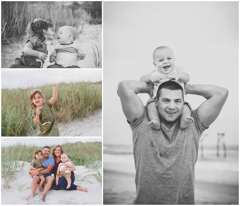family vacation photos on topsail beach